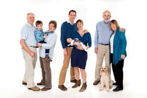 family portait in the studio