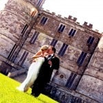 Bride & Groom at Lulworth Castle