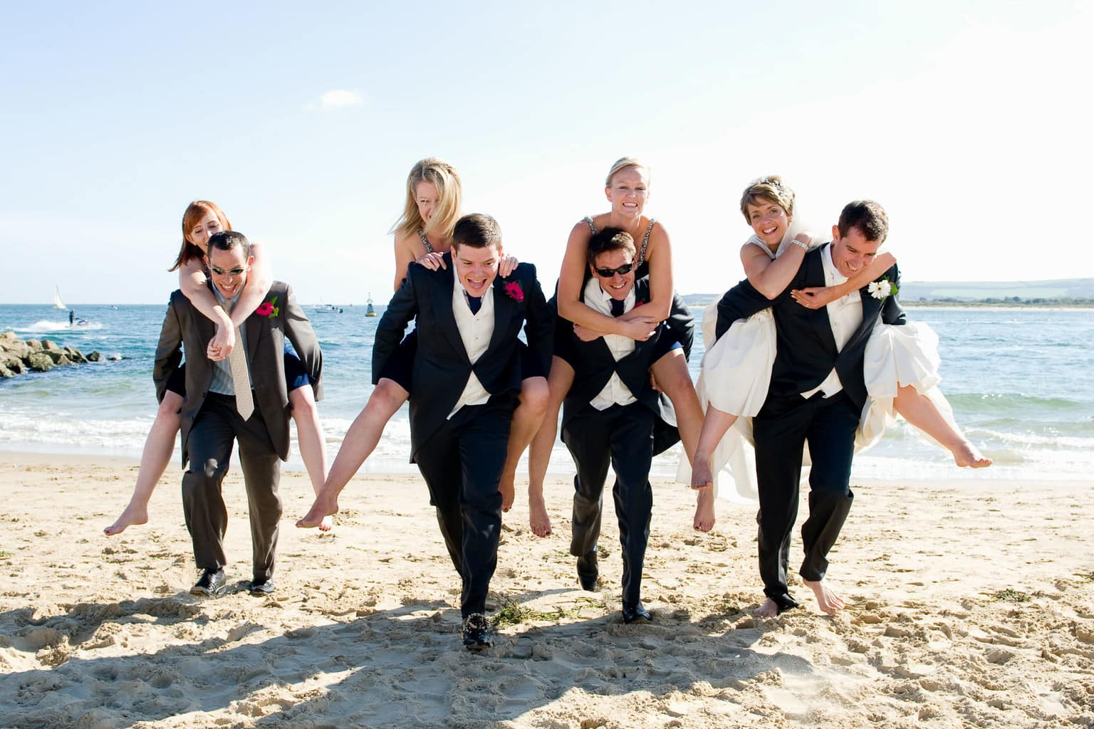 Bournemouth Beach Wedding Photo