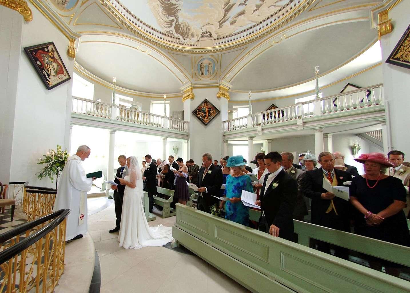 Lulworth Chapel wedding photography