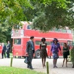 London red bus Wedding photography dorset