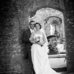 Photo of the Bride and groom at Athelhampton House