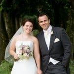 bride and groom at Athelhampton House
