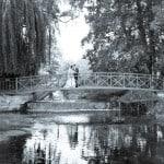 wedding photo at Athelhampton House