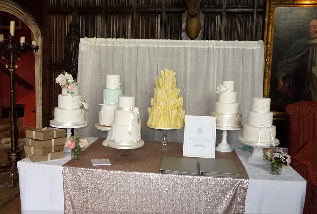 Cakes at Wedding Show Athelhampton House