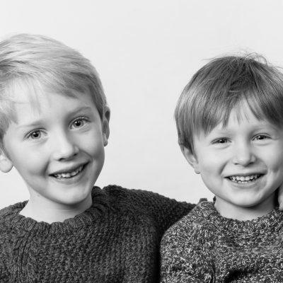 studio portrait of boys