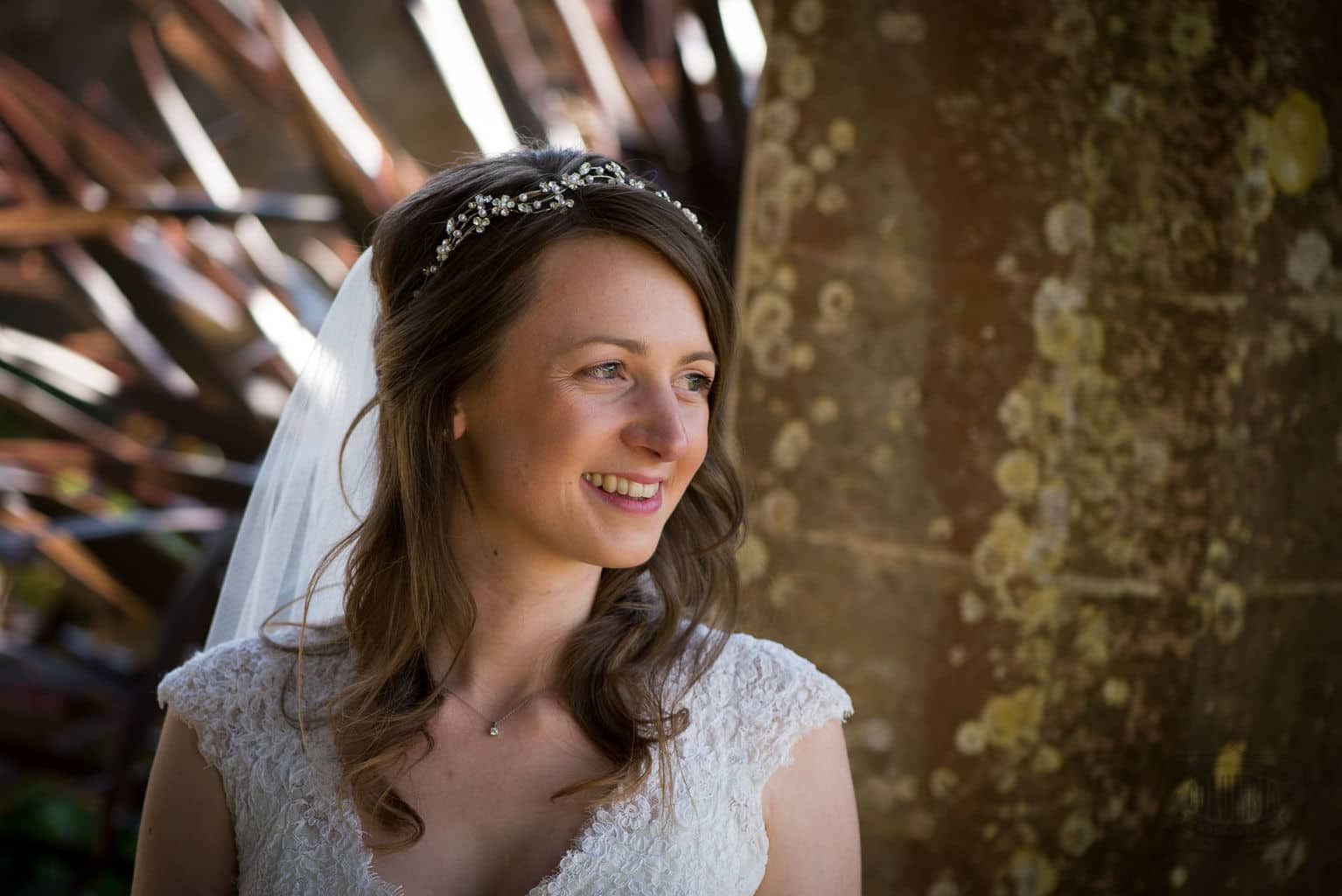 Bride at Athelhampton House wedding venue, Dorset