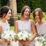 Bridesmaids at Athelhampton House, Dorset