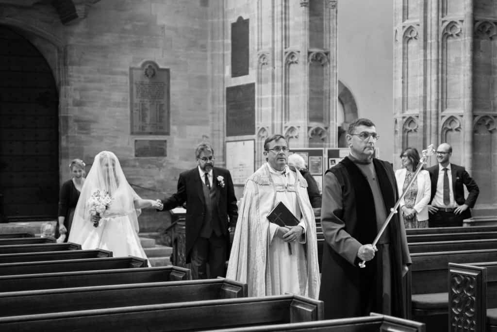 sherborne abbey wedding photograph