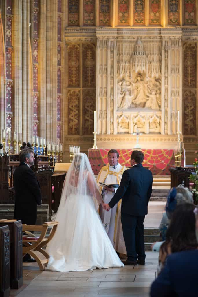 sherborne abbey wedding photo
