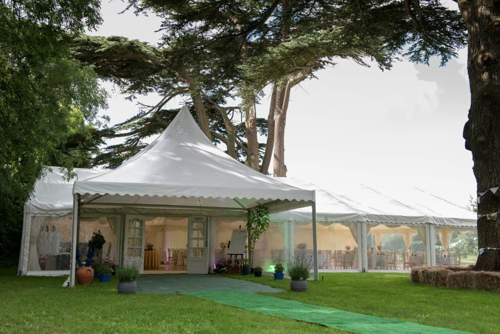wedding marquee dorset