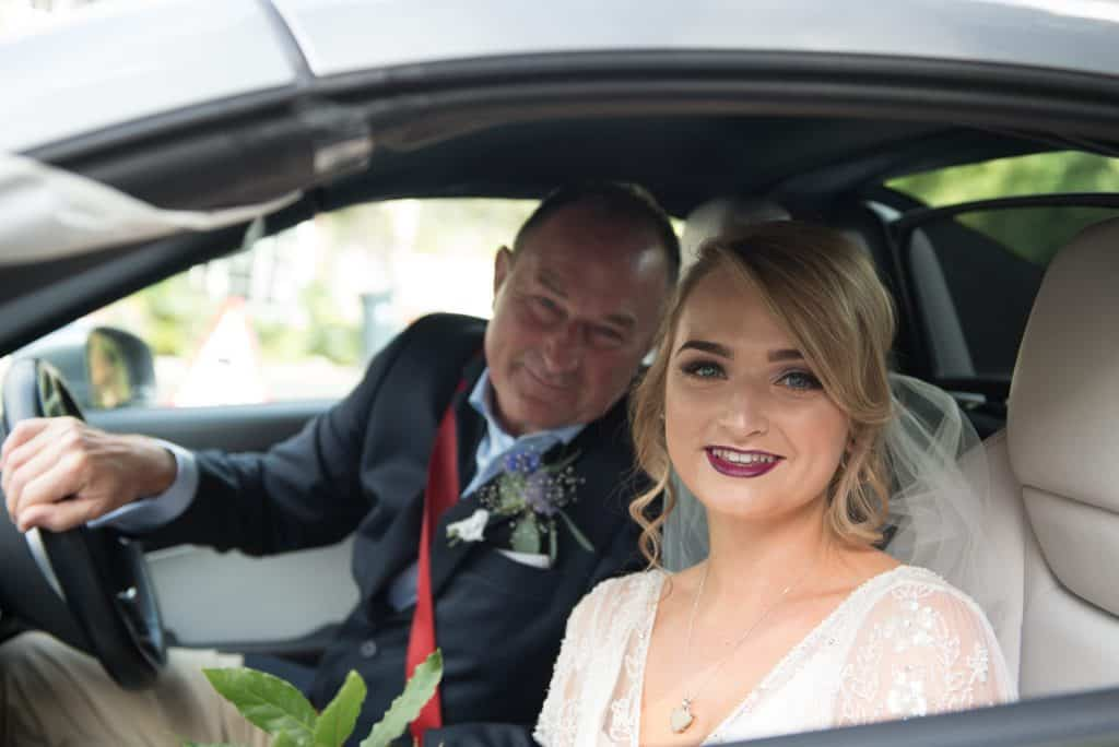 Bride and Dad arrive